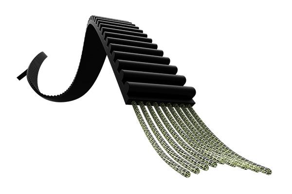KVELAR纖維材料的9mm台灣製PU皮帶