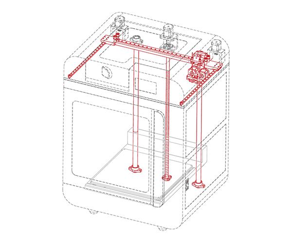 FreeDMake PLUS 3DPrinter Precision Frame