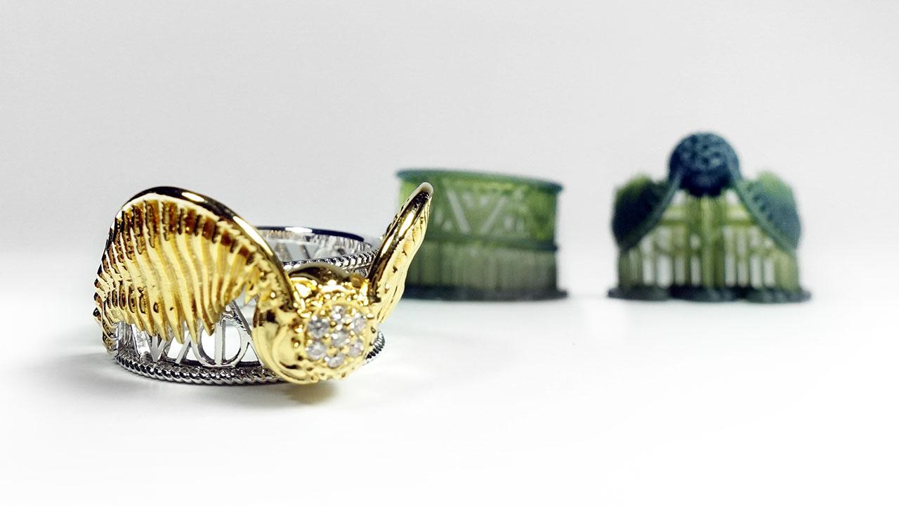 魁地奇 金探子 3D列印 客製化戒指